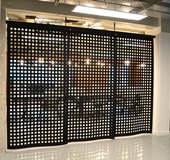perforated felt divider screens for open plan offices