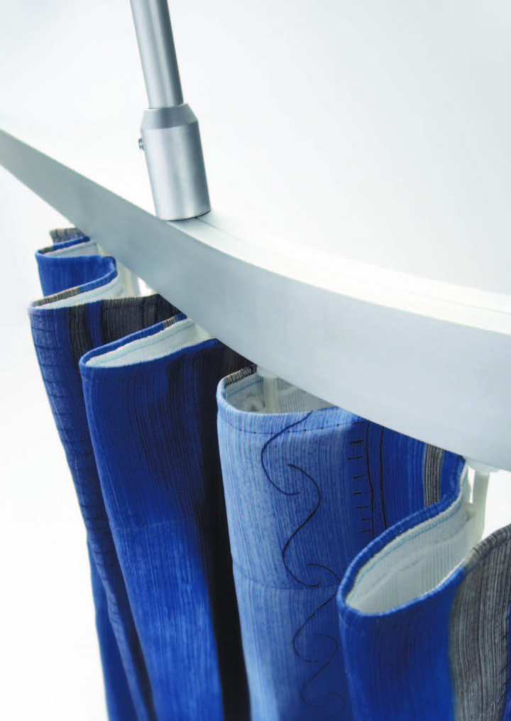 decor 750 Cubicle Curtain Track